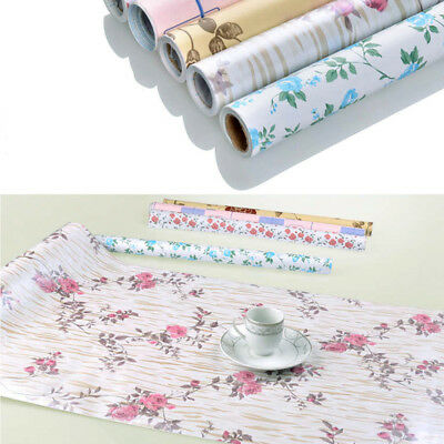 45x200CM Self-adhesive PVC Contact Paper Moisture Proof Drawer Liner Wallpaper