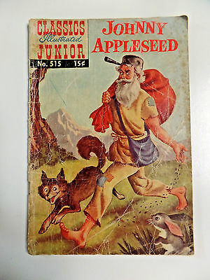 Classics Illustrated Junior # 515 Johnny Appleseed HRN 515 Vintage Comic Book G-