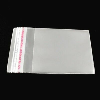 "1.57"" x 2.36"" 200Pcs Clear Plastic Self-Adhesive Seal Bags Gift Package Sacks"
