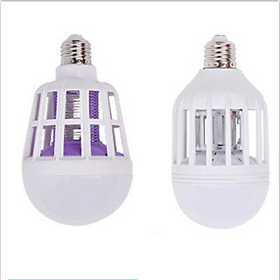 E27 15W LED Zapper Anti Mosquito Light Bulb Lamp Fly Insects Moths Killer Home