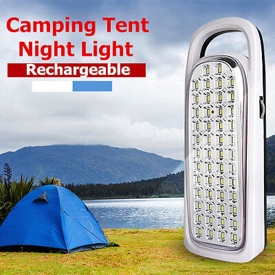 Rechargeable 50 LED Hand Camping Night Light Lantern Outdoor Lamp Flashlight AU