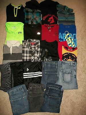 Lot Of 21 Boys Size 7 8 Fall Winter Namebrand Gap Adidas Under Armour Tcp Guc!
