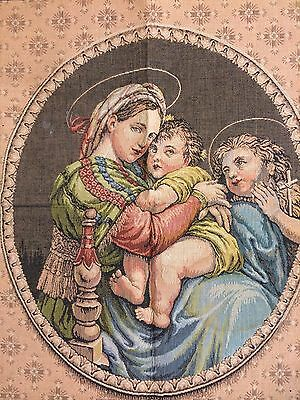 Tapestry, European style, small wall hanging, Madonna and Child