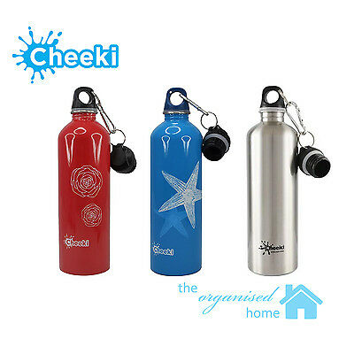 Cheeki Stainless Steel Drink Bottle 750ml with 2 Lids