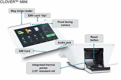 First-Data Clover-Mini-POS-Apple-Pay-EMV-Printer-Credit-Card-Machine