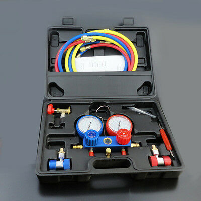 AC Refrigeration Kit A/C Manifold Gauge Set Air R12 R22 R134a 410a R404z On Sale