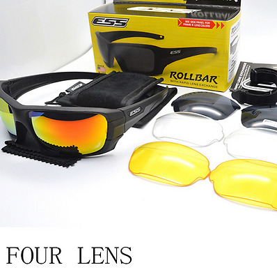 ESS ROLLBAR Glasses Polarized Sunglasses Military Eyewear Interchangeable 4 Lens