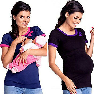 USA Maternity Clothes Breastfeeding Tops Nursing Maternity Top Women T-shirt