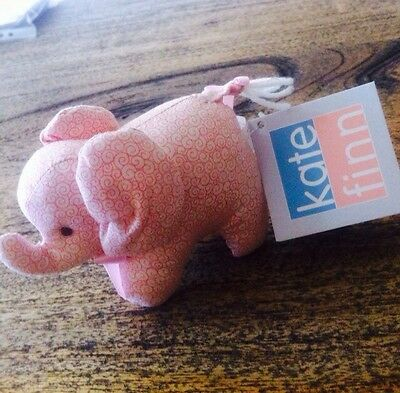 Bnwt Kate Finn Baby Elephant  Soft Toy - Gorgeous, Pink Approx 10 Cm Long