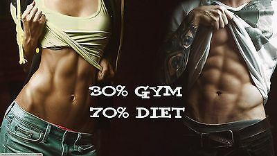 Workout Gym Fitness muscle Quotes High Quality wall Art poster Choose your Size