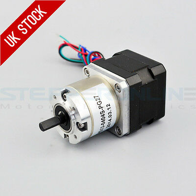 Nema 17 Stepper Geared Motor 27:1 Planetary Gearbox 0.4A CNC Robot 3D Printer