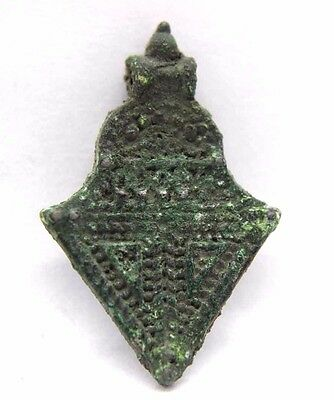 The Vikings Bronze  Pendant with Granulated Cross Decoration 1000 AD