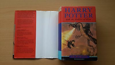 Harry Potter 4 and the Goblet of Fire First Edition 1. Auflage englisch