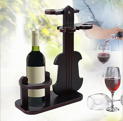 Creative Wooden Wine Bottle Holders Racks Goblet Rack Storage Standing Shelf