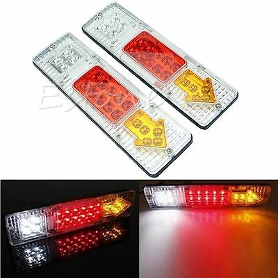 2x 19 LED Rear Tail Trailer Light Caravan Truck VAN Indicator Lamp Universal 12V