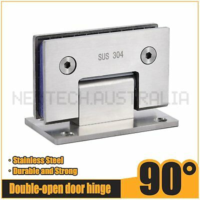 90° Stainless Steel Frameless Wall to Glass Shower Door Hinges wall mount hinge