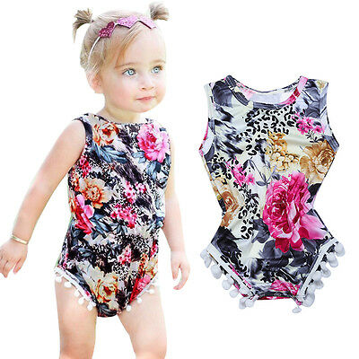 Newborn Baby Girl Bodysuit Sleeveless Romper Jumpsuit Outfits Summer Clothes