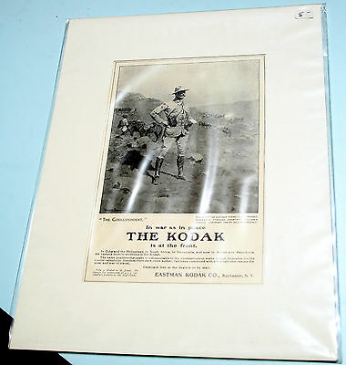 NF matted KODAK IS AT THE FRONT Harpers 1904 Russo-Japanese Spanish-American War