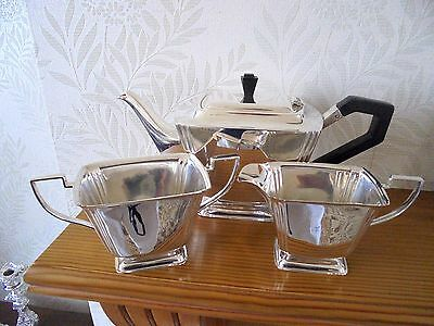 Stylish Art Deco Silver Plated Footed Tea Service