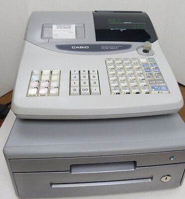 CASIO PCR-T465 ELECTRONIC CASH REGISTER With KEY FREE SHIPPING