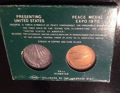 Peace Medal Expo 1970 Torch Pavilion Coin Set