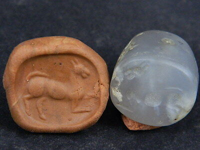 Ancient Agate Bead Seal/Stamp Near Eastern C.300 BC #Ik820