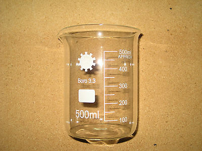 Borosilicate Glass Beakers, 500ml