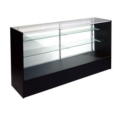 ITEM# SC4B 4' Full Vision Retail Glass Display Case in Black Will Ship