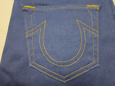 True Religion Halle Womens Mid Rise Super Skinny Dark Blue Jeans Size 26 New