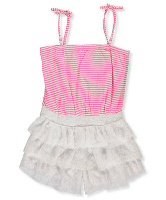 """Pinkhouse Big Girls' """"Tiered & Beaded"""" Romper (Sizes 7 - 16)"""