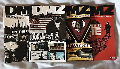 DMZ Vertigo Volumes 1-6 Graphic Novels Paperback - VGC