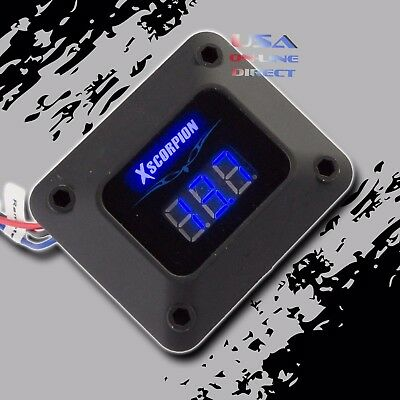 3 Digit Blue LED readout 12v Digital Voltmeter Black housing Car Marine Audio