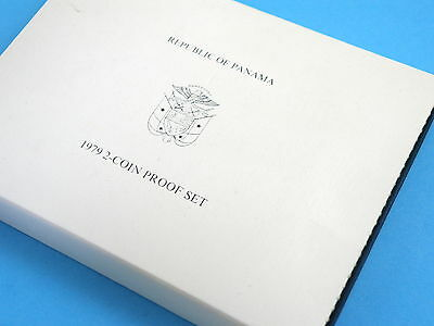 Panama - 1979 Sterling Silver Proof Two Coin Set  - 5 & 10 Balboa - (Bv $135)