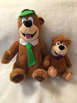 "Yogi Bear And Boo Boo Plush Bears Hanna Barbera 14"" & 9"" Tall 1996 NWOT"