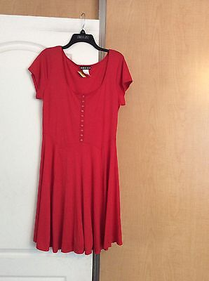 New Paper Doll - Red A-line Knit Women Dress/top Plus Size 1X