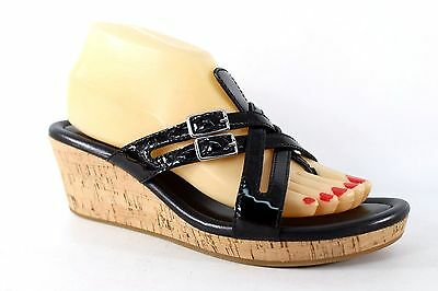 Cole Haan Womens Black Corby Wedge Sandal Size 8B  S500