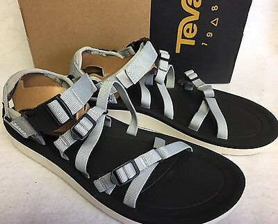 859b2c1a1 TEVA ALP PREMIER Glacier Grey STRAPPY SPORT SANDALS sizes WOMENS 1015182  Webbing