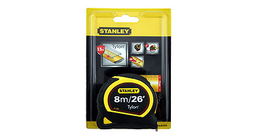 Tape Measure Stanley Pocket Tape 8M/26FT Accurate Measurements ** Free PP **