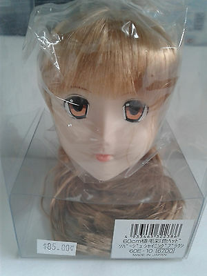 Bjd Ball Jointed Doll head only Made in Japan. Painted. Reddish blonde hair.