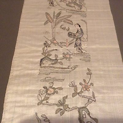Antique Chinese Silk Embroidery Sleeve