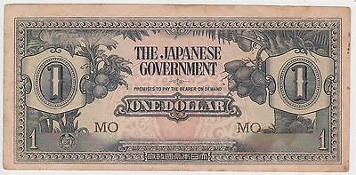 (N5-21) 1940s Japan invasion money one dollar Bank note (Q)