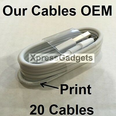 LOT OF 20X OEM Original Lightning USB Charger Cable For Apple iPhone 6 6s 6 Plus