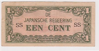 (N5-31) 1940s Japan invasion money EEN cent bank note (AB)