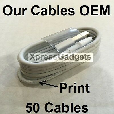 LOT OF 50X OEM Original Lightning USB Charger Cable For Apple iPhone 6 6s 6 Plus