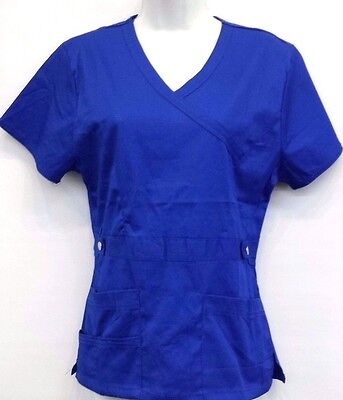 Stylish Stretch Scrub Top  Solid Color - D1064
