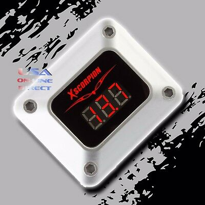 3 Digit RED LED Readout 12v Digital Voltmeter Silver Car Marine Audio Video USA