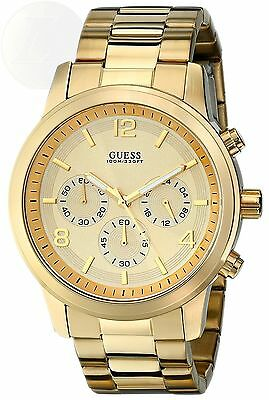 Guess Mens U15061G2 Defining Style Gold-Tone Chronograph Watch