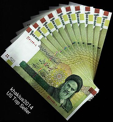 Iran 10 x 100000 (100,000) Rials Banknotes- khomeini Uncirculated paper money