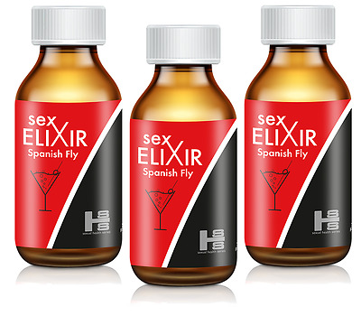 3x ORIGINAL SEX ELIXIR - Spanish Fly afrodisiaco LIBIDO 15ml