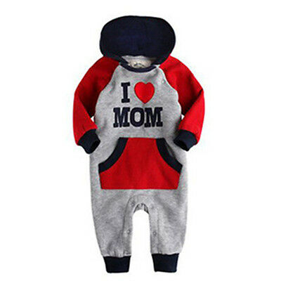 Newborn Baby Jumpsuit Boys Girls Hooded Romper Casual Bodysuit for 12-18 months